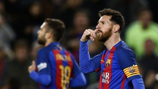 Messi gol Barcelona Celta (créditos: AP)