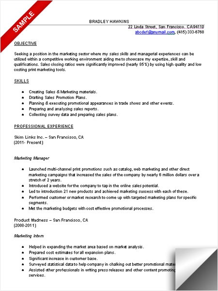 67 best Marketing Resumes images on Pinterest Marketing resume - examples of marketing resumes