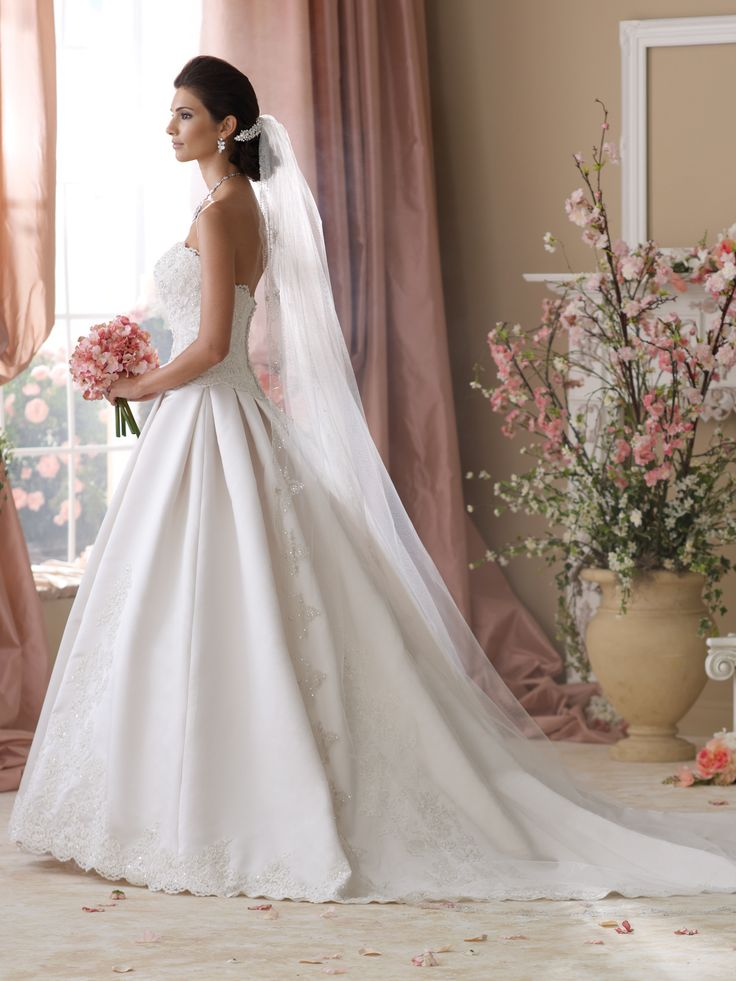Style no 114281 david tutera for mon cheri wedding for David tutera beach wedding dresses