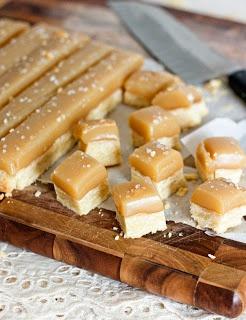Salted Carmel Shortbread Bites