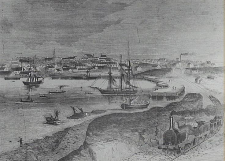 1874 Goods Line and the new Iron Wharf at Darling Harbour: Helen