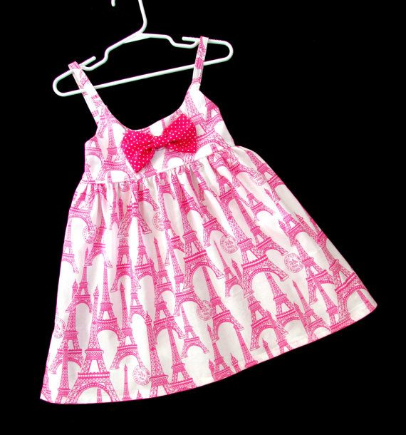 Pink Paris dress for 3 - 4 year old girl