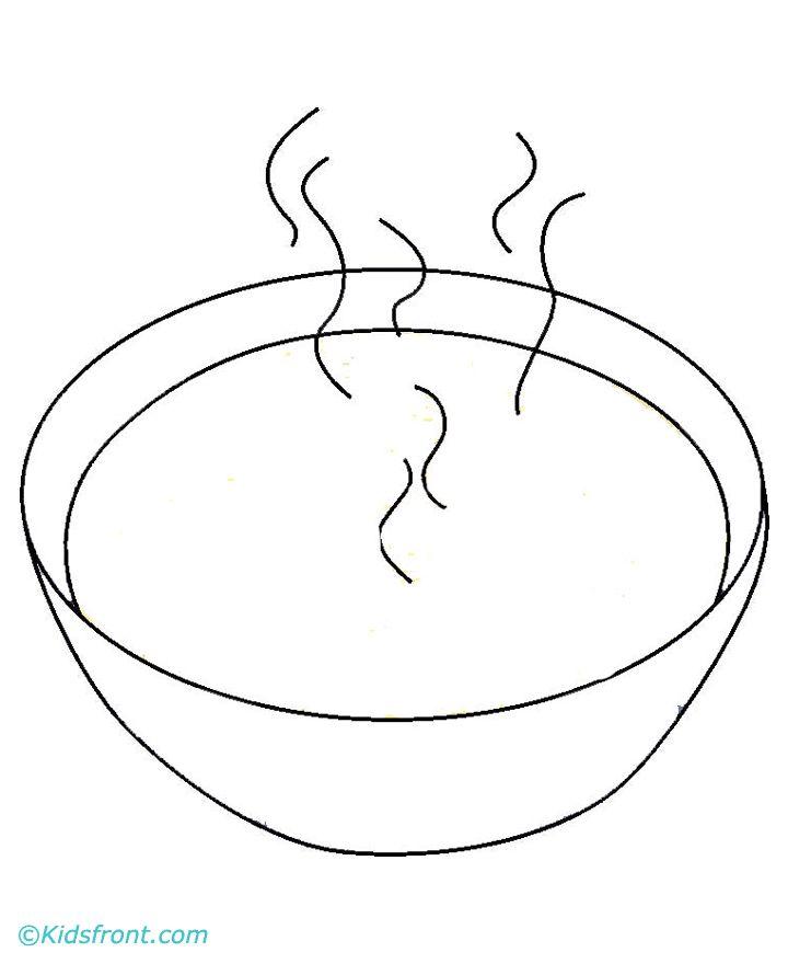 Суп картинка для детей раскраска