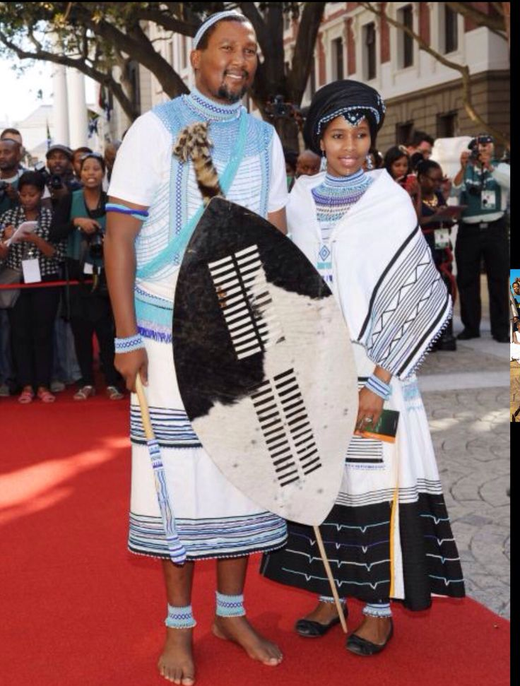 Xhosa Bride And Groom.