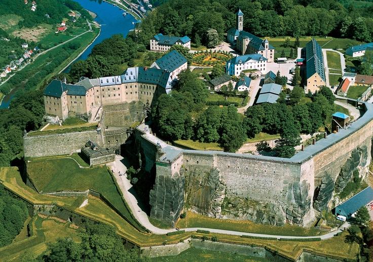 Festung Königstein. Sächsische Schweiz,  Germany. Astrogeographical position: