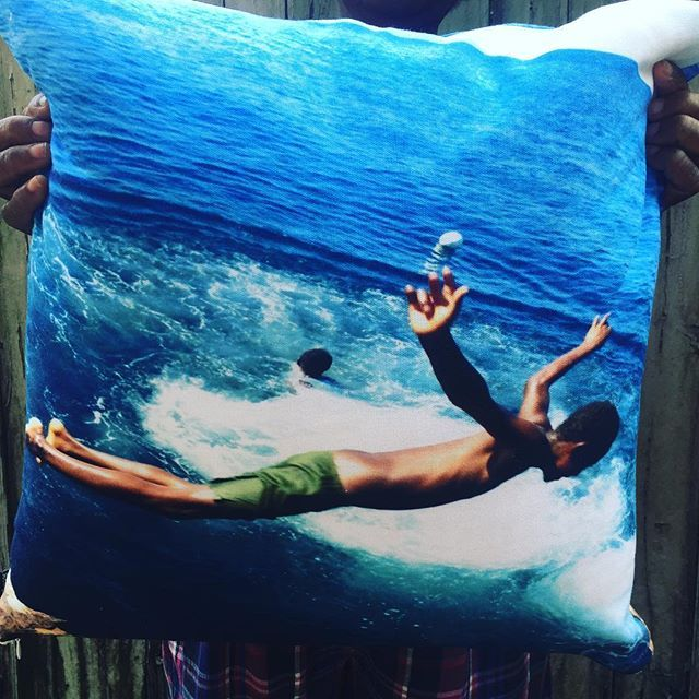 this #baimikisim throw pillow cover is $AU45 + postage . 40cm x 40cm . buy now via DM or at at www.baimikisim.etsy.com [ link in bio ] .