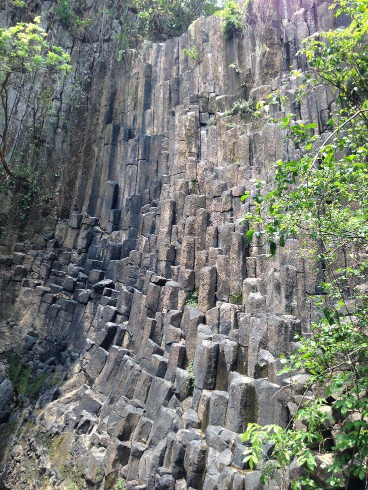 Los Tercios Waterfall dry in Suchitoto El