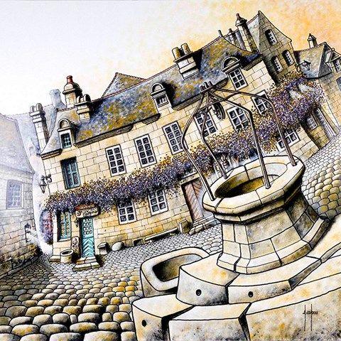 Alain Coadou peintre a Locronan