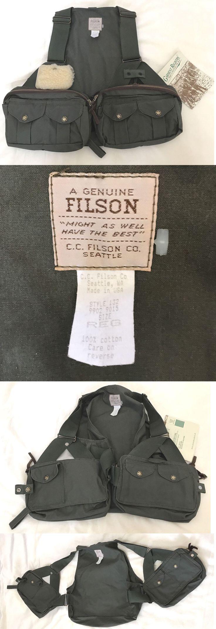 Vests 65982: C. C. Filson Style 132 Fly Fishing Vest Size Reg Regular * New W Tag -> BUY IT NOW ONLY: $215 on eBay!