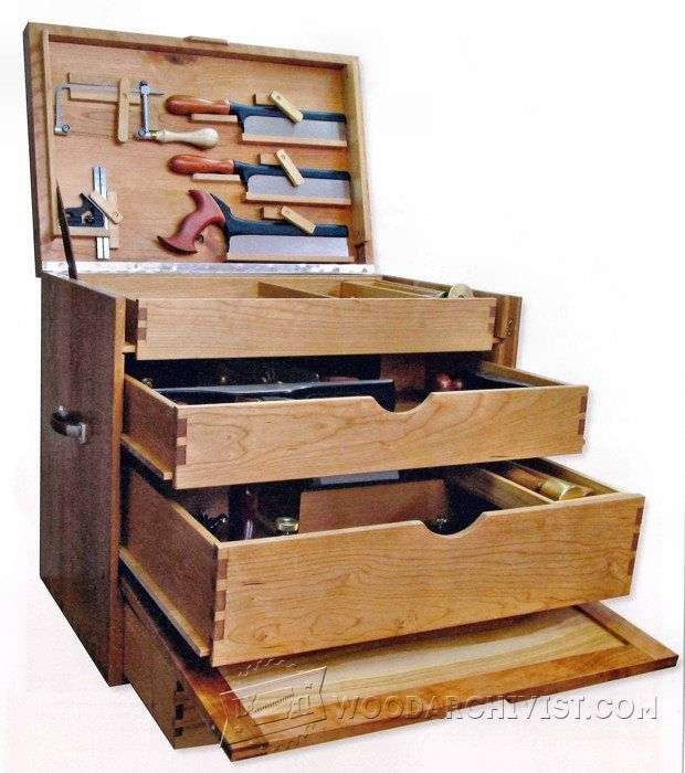 Woodworking Tool Chest Plans - Workshop Solutions Projects, Tips and Tricks - Woodwork, Woodworking, Woodworking Plans, Woodworking Projects