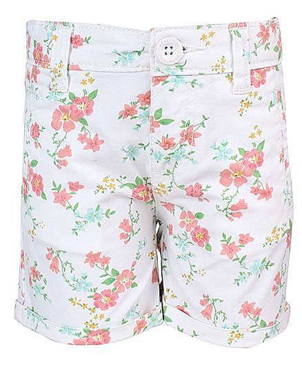 United Colors Of Benetton Floral Print Shorts - White http://www.firstcry.com/ucb/united-colors-of-benetton-floral-print-shorts-white/578621/product-detail