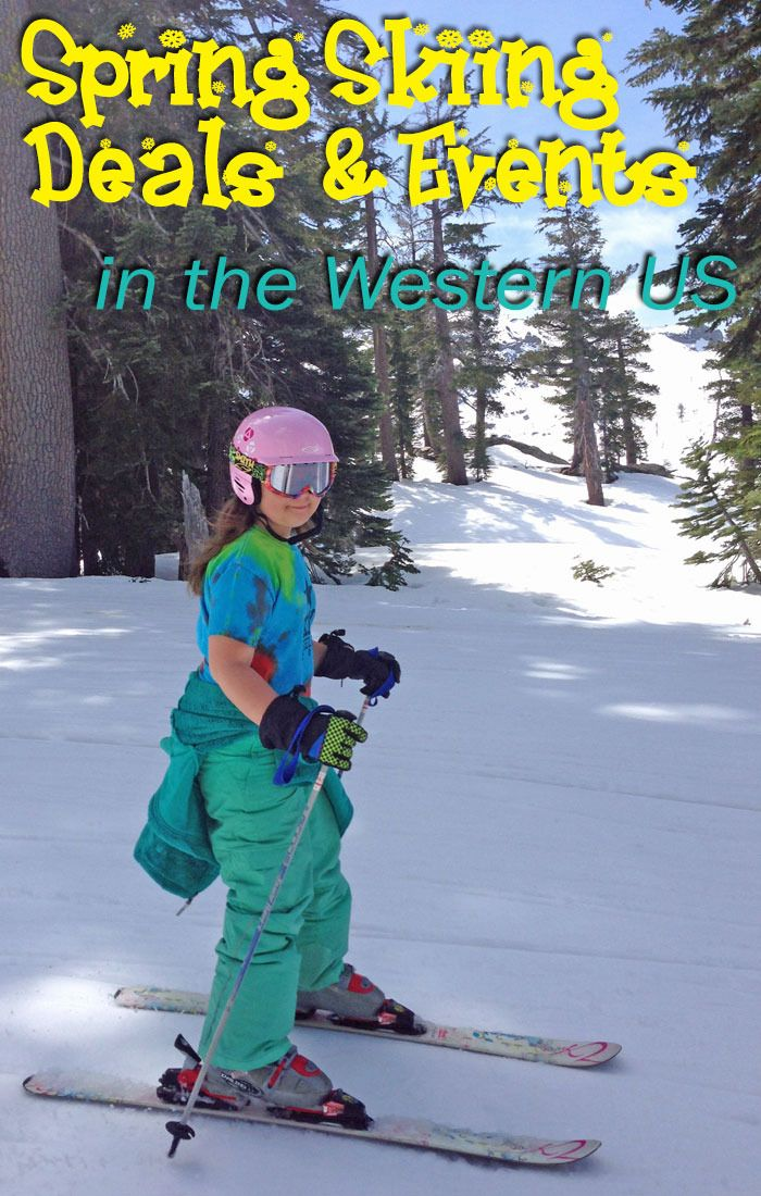 Spring Skiing Deals at Western US Ski Resorts http://www.100routesacrossamerica.com/spring-skiing-deals-at-western-us-ski-resorts/