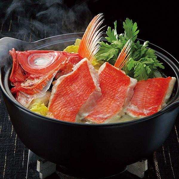 上品な旨みを、ゆず塩だれでさっぱりと。【高知県産金目鯛鍋】