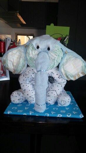 Elephant nappy cake