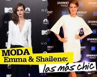 """Emma y Shailene se pueden llevar ya todos los premios de moda. Ve sus increíbles looks en las premieres de """"Noé"""" y """"Divergente""""- http://www.seventeenenespanol.com/moda/mejores-vestidas/703488/emma-watson-y-shailene-woodley/"""