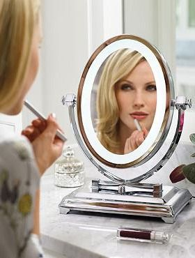 Treat a friend or sister to bright, clear lighting with the Oversized Vanity Mirror that serves as a great gift that will help anyone ready themselves.