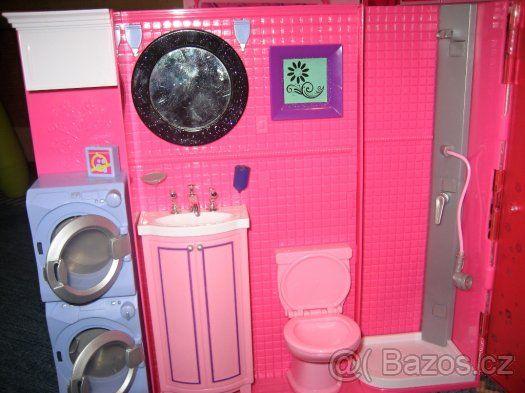 Barbie dům + panenka, oblečení - 1