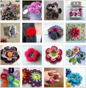 Spiegazioni per fare fiori in stoffa carta e uncinetto