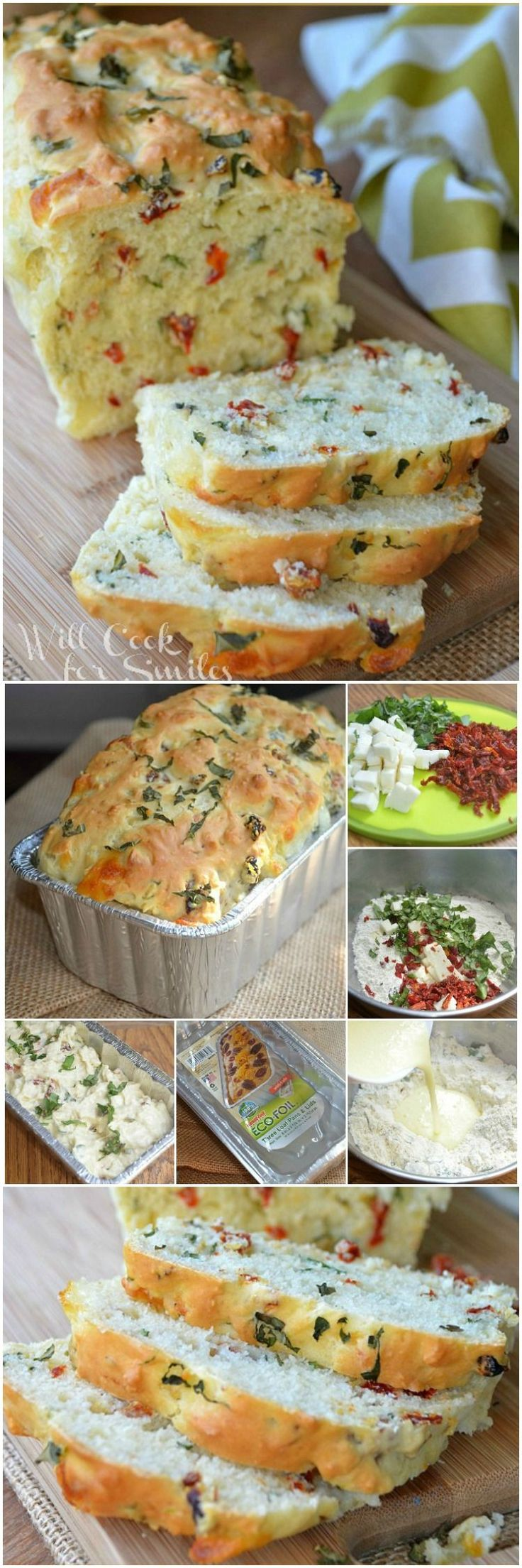 Recipe for Savory Caprese Bread. It's soft and flavorful bread that is perfect as a side of for sandwiches.
