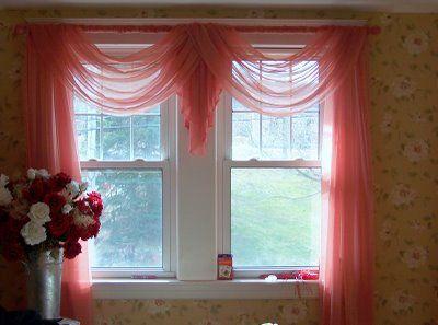 swag curtain idea!