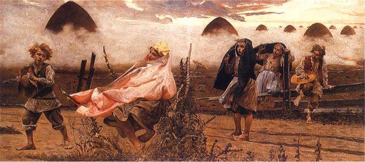 Jacek Malczewski - Boginka w dziewannach (cykl Rusałki), 1888