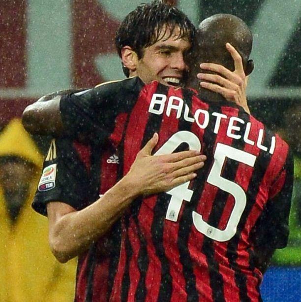 Balotelli and Kaka  AC Milan