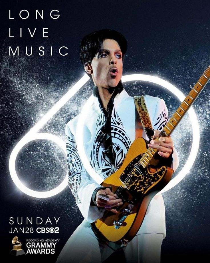 2018 Grammy Ad featuring PRINCE  #Prince4Ever
