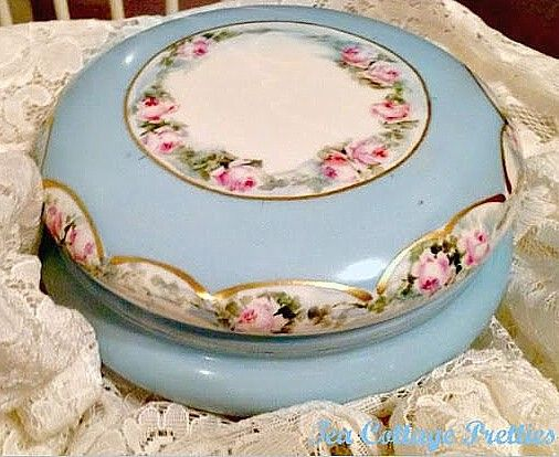 Limoges Powder Jar (teacottagepretties)