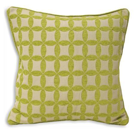 Geometric Lime Green Cushion