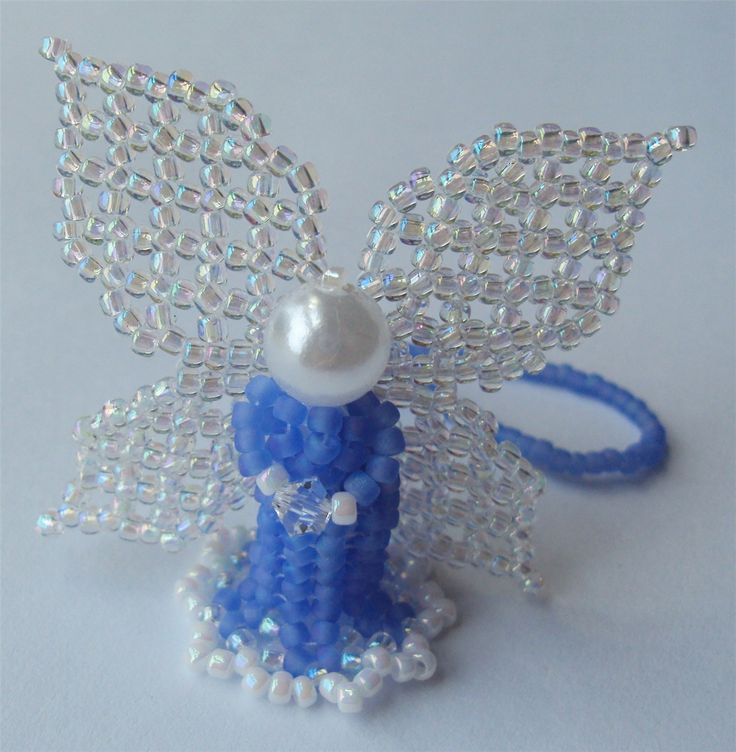 photos of beaded angels from lucite beads | Frosted Blue Beaded Angel - Bead&Button Magazine Community - Forums ...