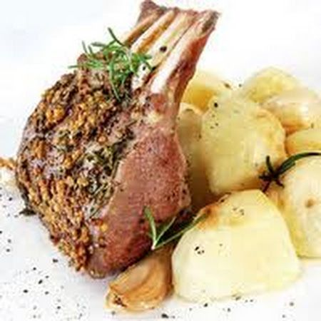 Frenched Rack of Lamb with Rosemary Mustard Sauce