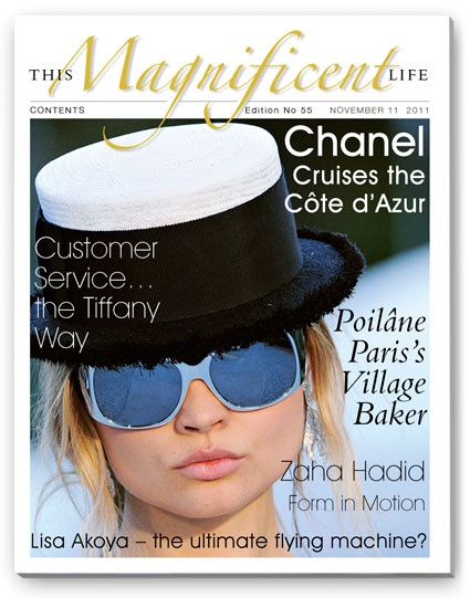 Oh so chic Chanel on the cover of ThisMagnificentLife.com issue 55.