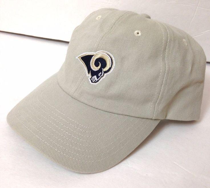 Simple LOS ANGELES / ST LOUIS RAMS HAT Relaxed Fit Khaki Adjustable Men/Women LA #NFL #LosAngelesRams