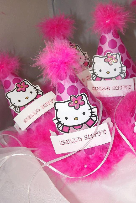 Hello Kitty Party Hat Party Hat by AmiraDesign on Etsy, $12.00