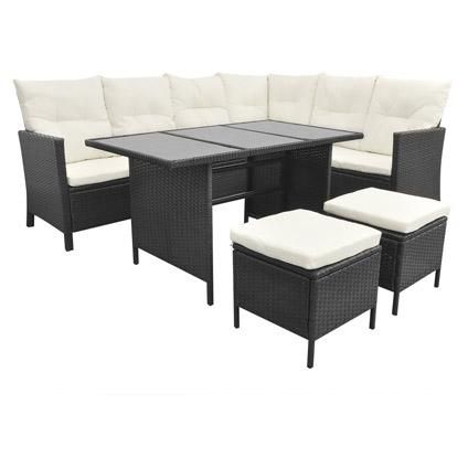 gartenlounge rattan weiss. Black Bedroom Furniture Sets. Home Design Ideas