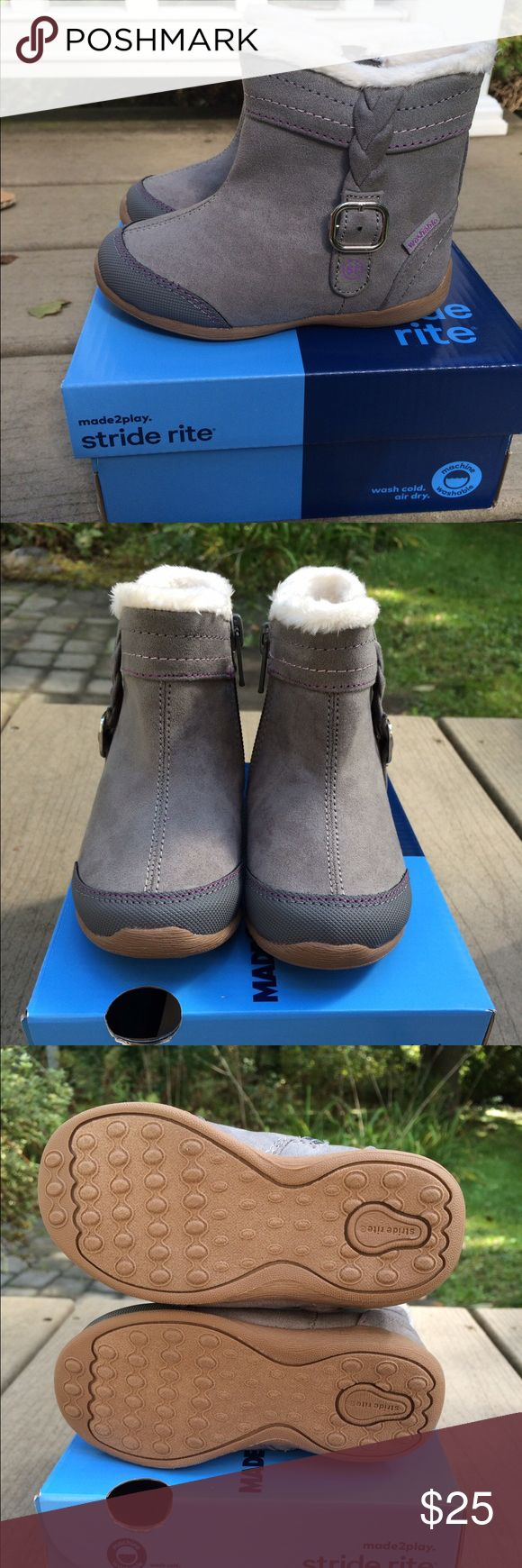 NEW in box Stride Ride Boots - Toddler Size 6 Brand new in box, size 6 (toddler) Stride Rite Boots (Marjorie, Grey). I grabbed the wrong size for my daughter and I'm unable to return them (no outlet near me since they were purchased while on vacation). These are MACHINE WASHABLE! Available online for ~$40. Asking $25. Ships next business day! Stride Rite Shoes Boots