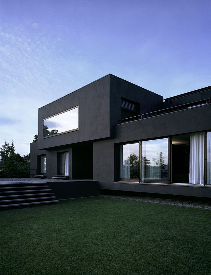 25 best ideas about modern architecture on pinterest for Black and white house exterior design
