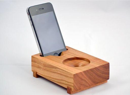 Koostik Mini Koo iPhone Speaker $70 Completely Acoustic; no electricity required