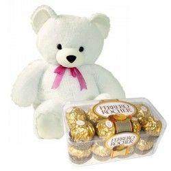 1) 8-10 inches Teddy Bear 2) 16 Pcs Fererro Rocher Chocolates http://thetradeboss.com/deals_detail.php?id=65