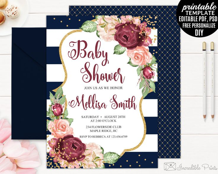 134 best Baby Shower Invitations images on Pinterest Pdf, Baby - bridal shower invitation templates download
