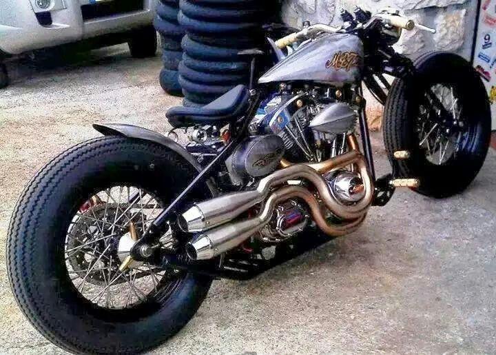 Harley Shovelhead bobber #motorcycles #bobber #motos | caferacerpasion.com