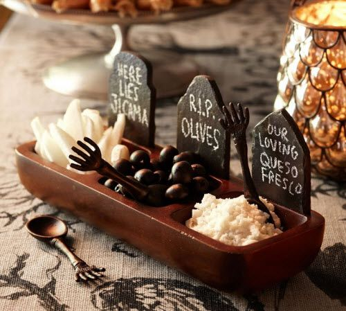 Exotic Excess - Halloween Entertaining: Pottery Barn Tombstone Condiment Set