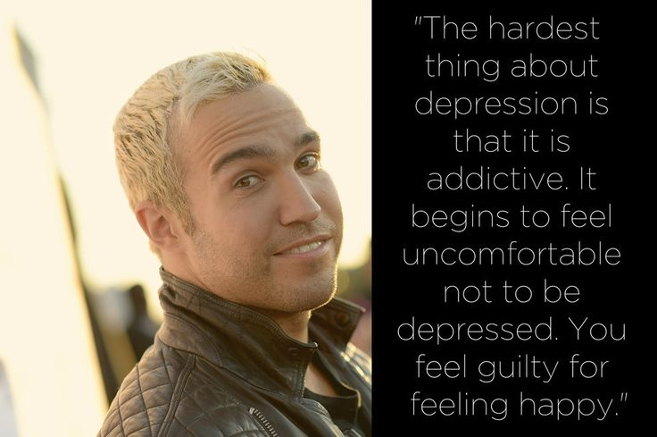 27 Celebrities On Dealing With Depression And Bipolar Disorder (Pictured: Pete Wentz from Fall Out Boy) -- lots of relatable + illuminating quotes here reminding us depression can (& does) happen to anyone.