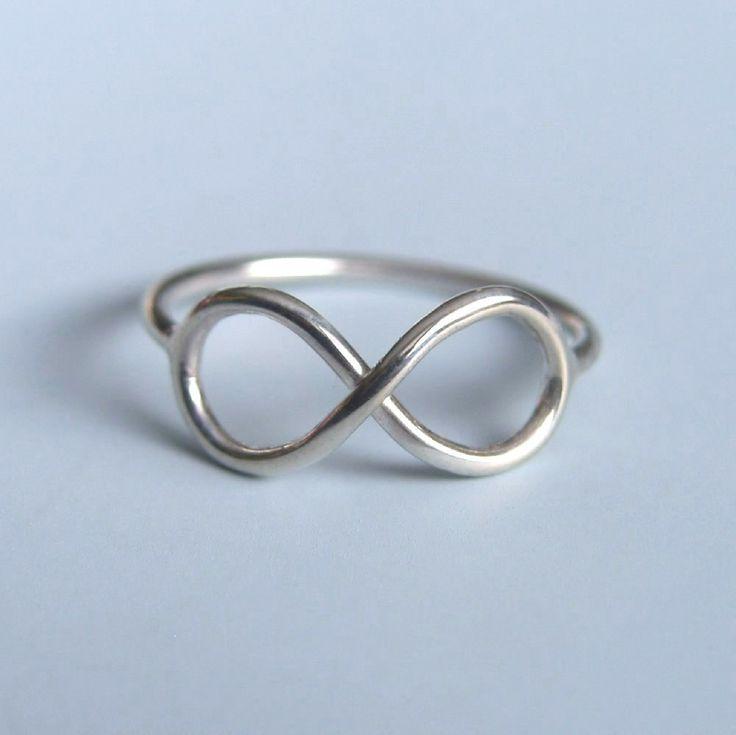 Infinity Symbol Ring Sterling Silver Infinity Ring. $30.00, via Etsy.