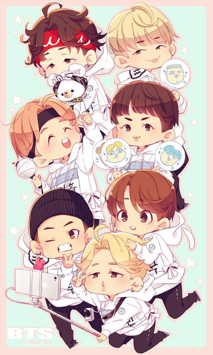BTS WALLPAPERS in 2020 Bts chibi, Chibi, Bts wallpaper