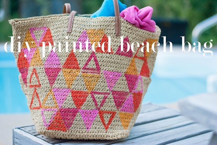 diy painted beach bag: All Beaches, Colors Choice, Diy Bags, Beach Bags, Paintings Beaches, Beaches Bags, Diy Paintings, Diy Projects, The Beaches
