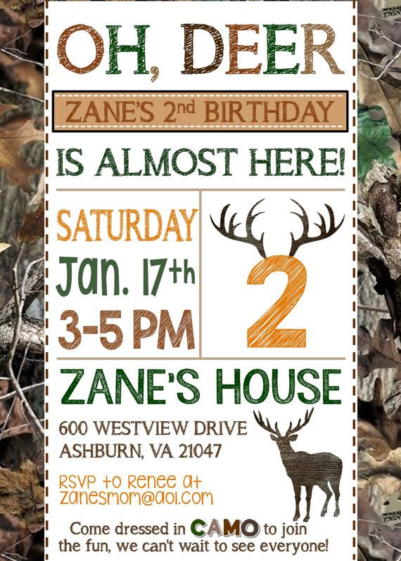 Deer Hunting Birthday Invitation // Hunting by MsThirdGrade