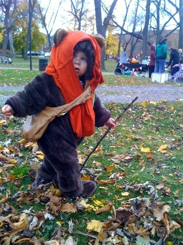 Epic kids' Ewok #StarWars costume! You bet my kids will be doing this for Halloween!