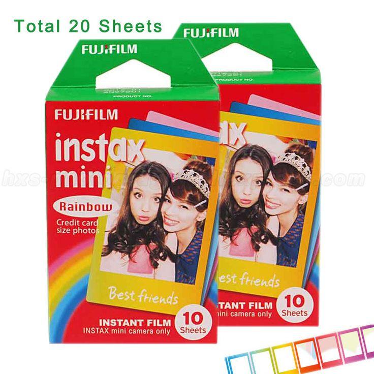 Fujifilm Instax Mini 8 Film 3 Inch Photo Paper Rainbow 20pcs for 7S 25 8 50s 90 Instax Mini Camera and SHARE Smartphone Printer
