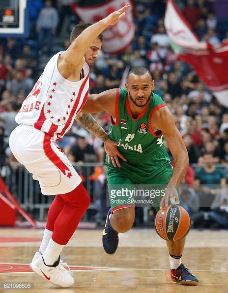 BELGRADE, SERBIA - NOVEMBER 04: Adam Hanga ® of Baskonia in... #svetistefan: BELGRADE, SERBIA - NOVEMBER 04: Adam Hanga ® of… #svetistefan